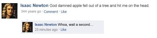 Newton's Facebook Status