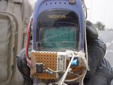 Photo Of A Nokia Bomb Detonator From Iraq
