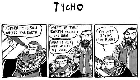 a cartoon about Tycho Brahe