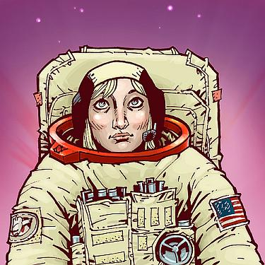 Philip Bond Drawing Of Astronaut Jan Davis