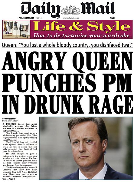 Angry Queen Punches PM