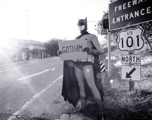 Batman Hitchhiking
